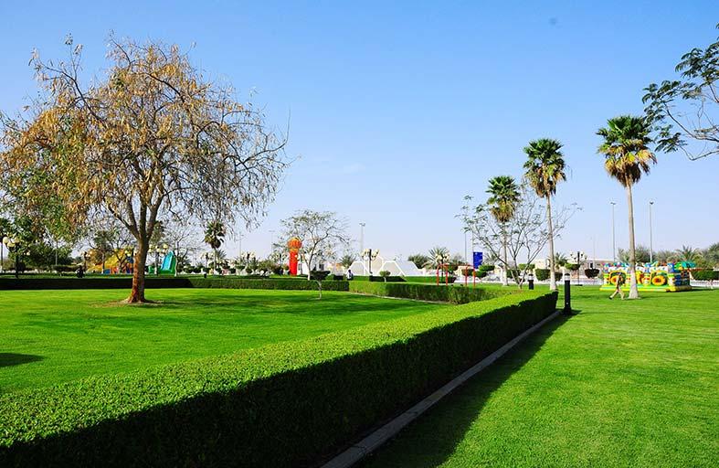 بلدية منطقة الظفرة تستكمل تطوير الحدائق بمدينة السلع